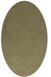 rug #827830 | oval light-green animal rug