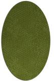 rug #830925   oval green animal rug