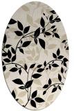 rug #831530 | oval blue-green natural rug