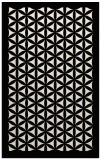 rug #831594 |  blue-green geometry rug