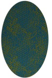 rug #832980 | oval green animal rug