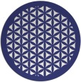rug #835023 | round blue traditional rug