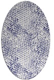 rug #835035 | oval blue animal rug