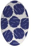 rug #835060   oval blue retro rug
