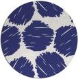 rug #835068 | round blue retro rug