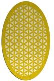 rug #835700 | oval white borders rug