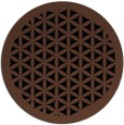rug #836393 | round brown borders rug