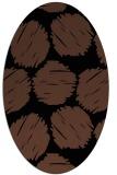 rug #836430 | oval black circles rug