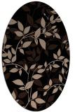 rug #837010 | oval beige natural rug