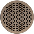rug #837078 | round beige borders rug