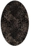 rug #837090   oval black animal rug