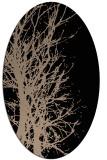 rug #837135 | oval beige rug