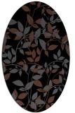 rug #837695 | oval black natural rug