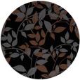 rug #837703 | round black natural rug