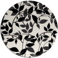 rug #838388 | round black natural rug