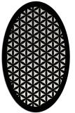 rug #838440 | oval white geometry rug