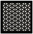 rug #838456 | square white borders rug