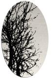 rug #838505 | oval white natural rug