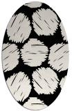 rug #839170   oval black retro rug