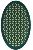 rug #839810 | oval yellow traditional rug