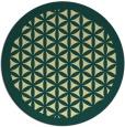 rug #839818 | round yellow borders rug
