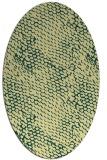 rug #839830 | oval yellow animal rug