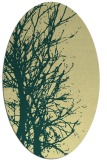 rug #839875   oval yellow natural rug