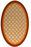 rug #841291 | oval orange traditional rug