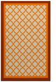 rug #841307    orange borders rug