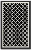 rug #841311 |  black borders rug