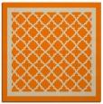 rug #841435   square orange borders rug
