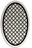 rug #841455 | oval white borders rug