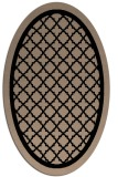 rug #841463 | oval black borders rug