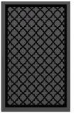 rug #841475 |  black borders rug