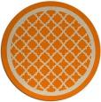 rug #841483 | round beige borders rug