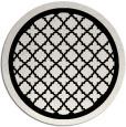 rug #841487 | round white geometry rug