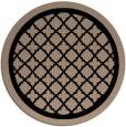 rug #841495 | round beige geometry rug