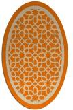 rug #842011 | oval orange borders rug