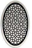 rug #842015 | oval white borders rug