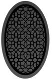 rug #842019 | oval black borders rug