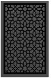 rug #842035 |  black borders rug