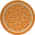 rug #842043 | round beige borders rug
