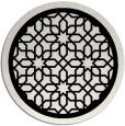 rug #842047 | round white borders rug