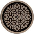 rug #842055 | round beige borders rug