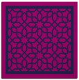 rug #853935 | square blue borders rug