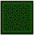 rug #853959 | square green borders rug