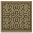 rug #854015 | square mid-brown borders rug