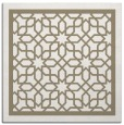 rug #854047 | square mid-brown borders rug