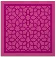 rug #854107 | square pink borders rug