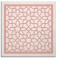 rug #854119 | square white borders rug